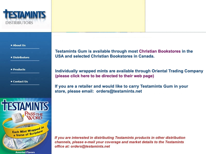 Contact us for more information about www.testamints.net