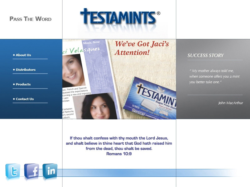 Welcome to the Testamints web site... www.testamints.net